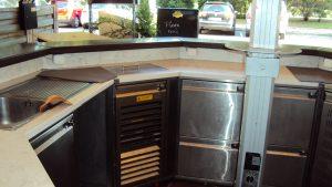 Schirmbar 3 Kühlpulte